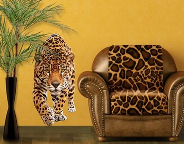 Wandtattoo No.648 Creeping Jaguar 70x148cm