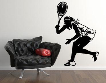 Wandtattoo No.UL982 Tennisspielerin II