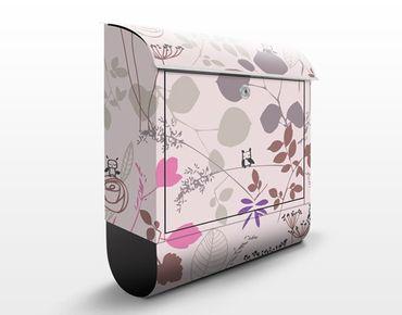 Wandbriefkasten - Living Below - Briefkasten Rosa, Pink