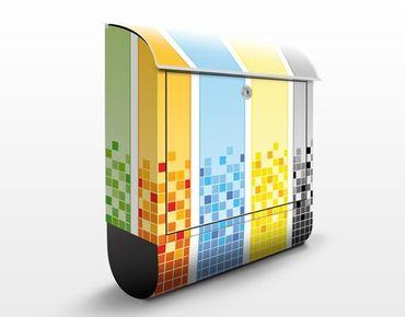 Wandbriefkasten - Pixel Mix - Briefkasten Bunt