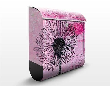 Briefkasten mit Zeitungsfach - Writing You... - Blumen Rosa, Pink