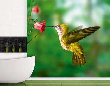 "Papiertapete - Fototapete No.122 ""YELLOW HUMMINGBIRD"" 300x280cm"