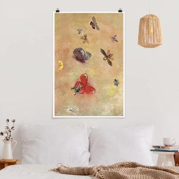 Poster - Odilon Redon - Bunte Schmetterlinge - Hochformat 3:2