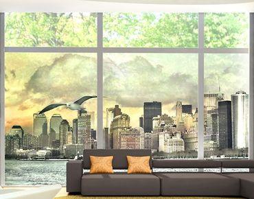 Fensterfolie - XXL Fensterbild No.YK1 New York - Fenster Sichtschutz