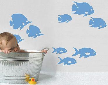 Wandtattoo Fische No.RY26 Fischschwarm