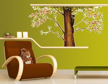 Wandtattoo Babyzimmer Wald Einhörnchen in Gefahr