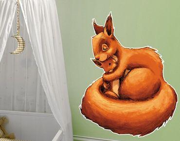 Wandtattoo Babyzimmer Einhörnchen Mama