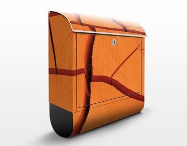 Design Briefkasten African Land - Briefkasten Orange