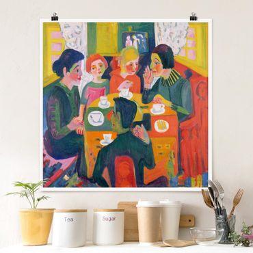 Poster - Ernst Ludwig Kirchner - Kaffeetisch - Quadrat 1:1