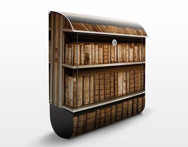 Wandbriefkasten - Altes Archiv - Briefkasten Braun