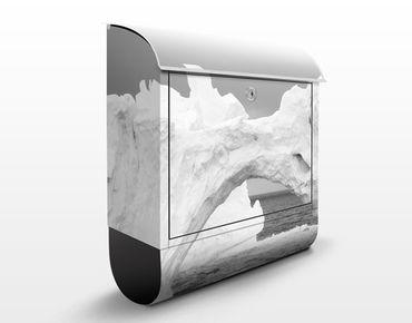 Briefkasten mit Zeitungsfach - Antarktischer Eisberg II - Hausbriefkasten Grau
