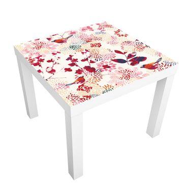Möbelfolie für IKEA Lack - Klebefolie Fancy Birds