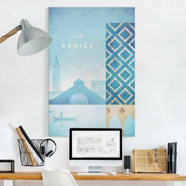 Leinwandbild - Reiseposter - Venedig - Hochformat 3:2