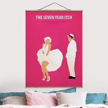 Stoffbild mit Posterleisten - Filmposter The seven year itch - Hochformat 4:3