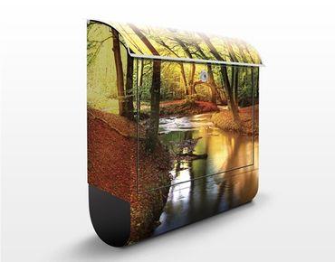 Briefkasten mit Zeitungsfach - Autumn Fairytale - Hausbriefkasten