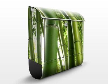 Wandbriefkasten - Bamboo Trees No.1 - Briefkasten Grün