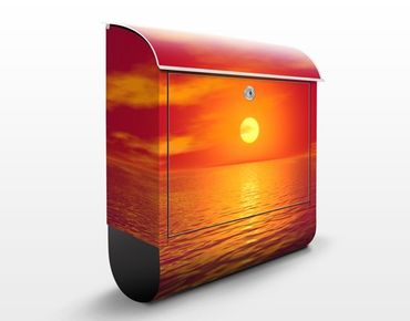 Wandbriefkasten - Beautiful Sunset - Briefkasten Rot