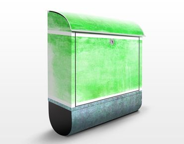 Briefkasten mit Zeitungsfach - Colour Harmony Green - Modern Grün