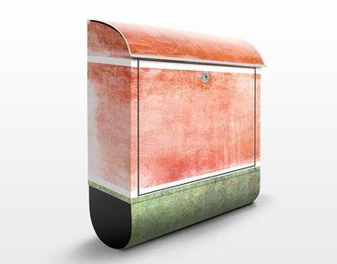 Briefkasten mit Zeitungsfach - Colour Harmony Red - Modern Rot