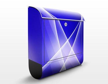 Briefkasten mit Zeitungsfach - Blue Dance - Briefkasten modern