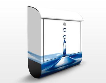 Wandbriefkasten - Blue Drop - Briefkasten Blau