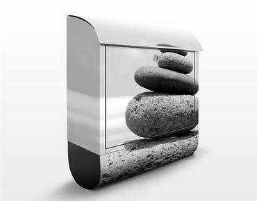 Design Briefkasten Sand Stones No.2 - Briefkasten Grau
