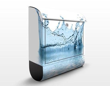 Wandbriefkasten - Blue Water Splash No.2 - Briefkasten Blau