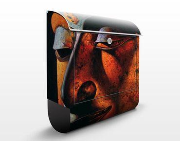 Wandbriefkasten - Bombay Buddha - Briefkasten Rot
