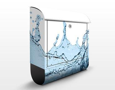 Wandbriefkasten - Blue Water Splash - Briefkasten Blau
