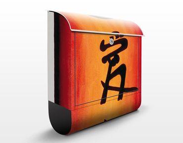 Design Briefkasten Loyality Love Devotion - Briefkasten Orange