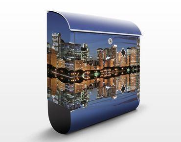 Briefkasten mit Zeitungsfach - Chicago Reflection - Wandbriefkasten