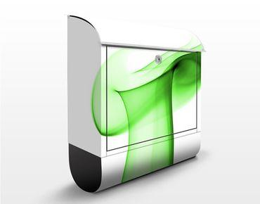Briefkasten mit Zeitungsfach - Green Glitter - Briefkasten modern grün