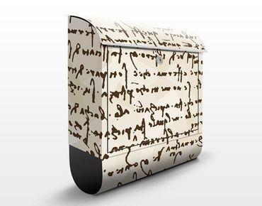 Wandbriefkasten - Da Vinci Manuskript - Briefkasten Braun