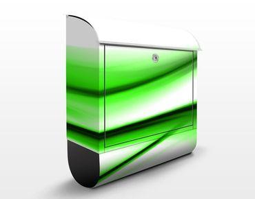 Briefkasten mit Zeitungsfach - Green Touch - Briefkasten modern grün