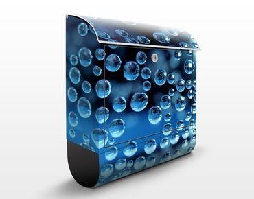 Wandbriefkasten - Dark Bubbles - Briefkasten Blau