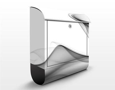 Briefkasten mit Zeitungsfach - Grey Flame - Modern Grau