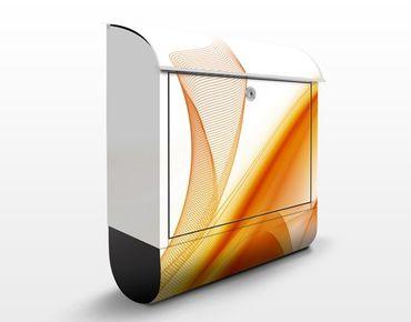 Briefkasten mit Zeitungsfach - Orange Dust - Modern Orange