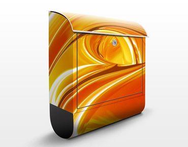 Briefkasten mit Zeitungsfach - Orchad Road - Modern Orange