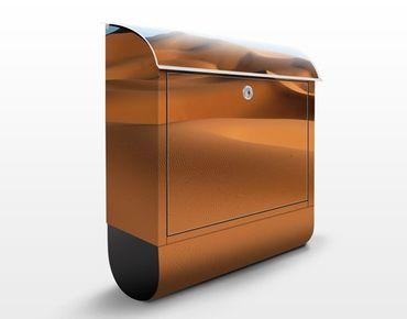 Briefkasten mit Zeitungsfach - Desert Dunes - Hausbriefkasten Orange