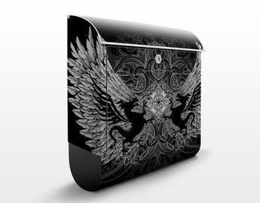 Wandbriefkasten - Drachenflügel - Briefkasten Schwarz
