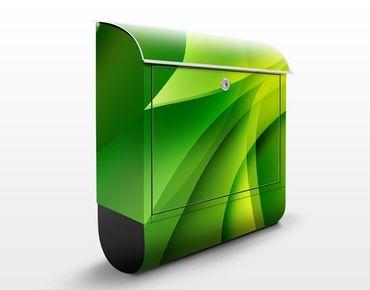 Briefkasten mit Zeitungsfach - Green Composition - Briefkasten modern