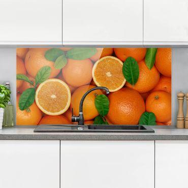 Spritzschutz Glas - Saftige Orangen - Querformat - 2:1