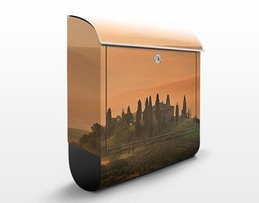 Briefkasten mit Zeitungsfach - Dreams of Tuscany - Wandbriefkasten