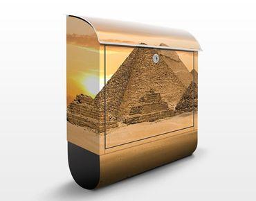 Briefkasten mit Zeitungsfach - Dream of Egypt - Hausbriefkasten