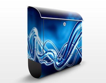 Briefkasten mit Zeitungsfach - Equalizer - Modern Blau