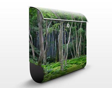Briefkasten mit Zeitungsfach - Japanischer Wald - Hausbriefkasten