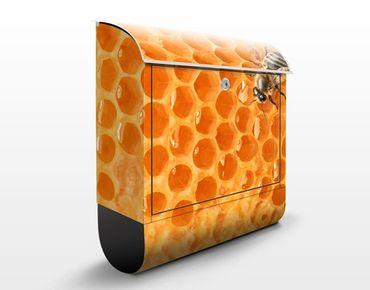 Wandbriefkasten - Honey Bee - Briefkasten Gelb
