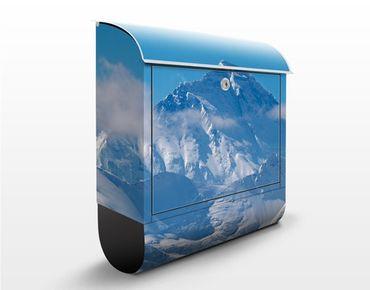 Briefkasten mit Zeitungsfach - Mount Everest - Hausbriefkasten Blau