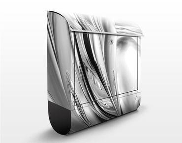 Briefkasten mit Zeitungsfach - Lights II - Modern Grau