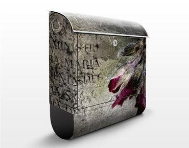 Design Briefkasten Mystic Flower - Briefkasten Grau